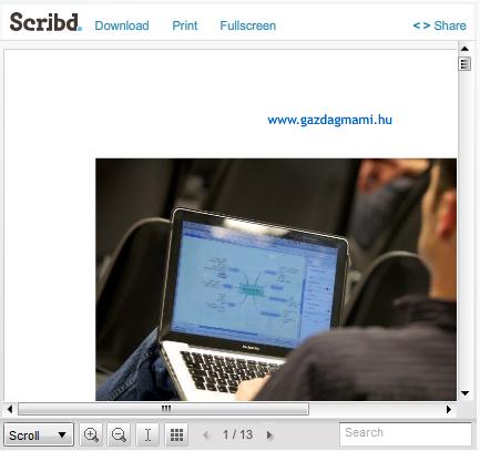pdf beágyazása honlapba