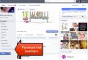 Facebook bolt beállítása