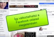 facebook oldal megjelenés