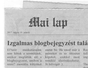 újságkivágás részlet készítő