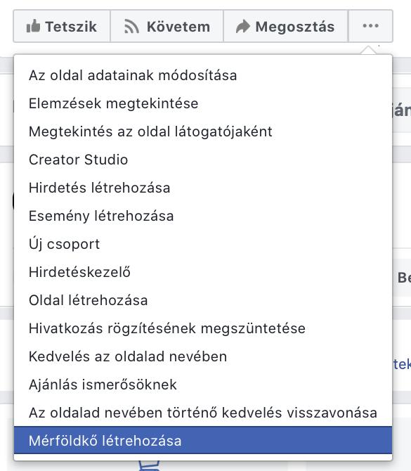 Facebook oldal mérföldkő hozzáadása 2019
